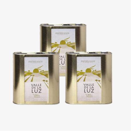 3 barattoli Olio di oliva 2,5L